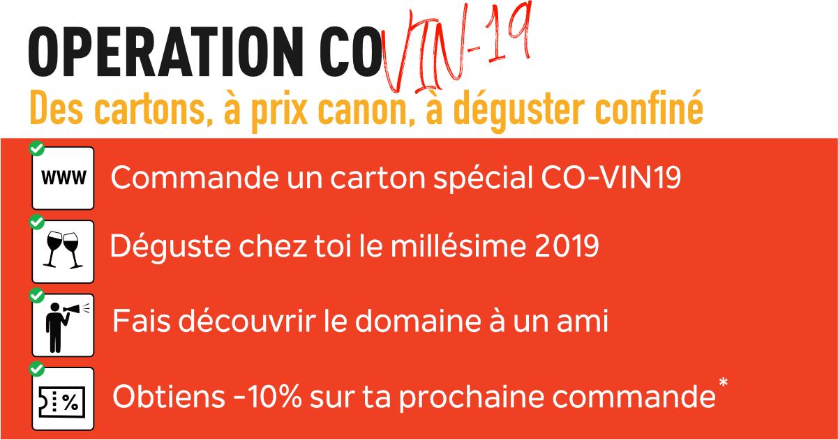 Opération CO-VIN19 au Domaine du Feuillerage